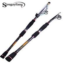 Sougayilang Spinning Fishing Rod Telescopic Fishing Rod 99% Carbon Fiber Baitcasting Rod Bass Lure Fishing Pole Fishing Tackle