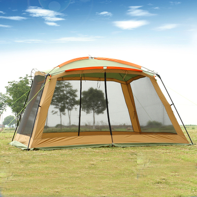 August 5 6 8 Person Huge 3.6*3.6m Hiking Family Pergola Beach Awning Party Tarp Anti Mosquito Fishing Outdoor Camping Tent large outdoor camping pergola beach party sun awning tent folding waterproof 8 person gazebo canopy camping equipment