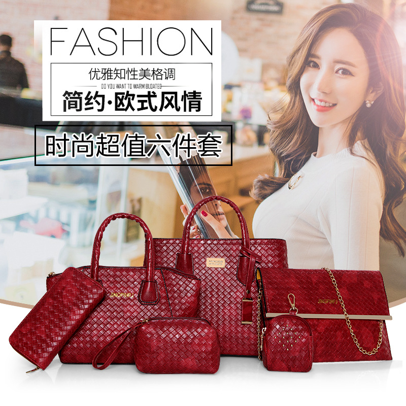 New Fashion Women Handbags Shoulder Bags Leather Top-Handle Bolsas High Quality Female Messenger Pouch Six-piece suit charmiyi 2017 new high quality soft real leather totes fashion handbags women messenger bags chain shoulder bag bolsas feminina