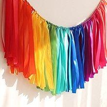 CAMMITEVER Rainbow Chic Garland Vintage Lace Birthday Bridal Shower Baby Room Decor Communion