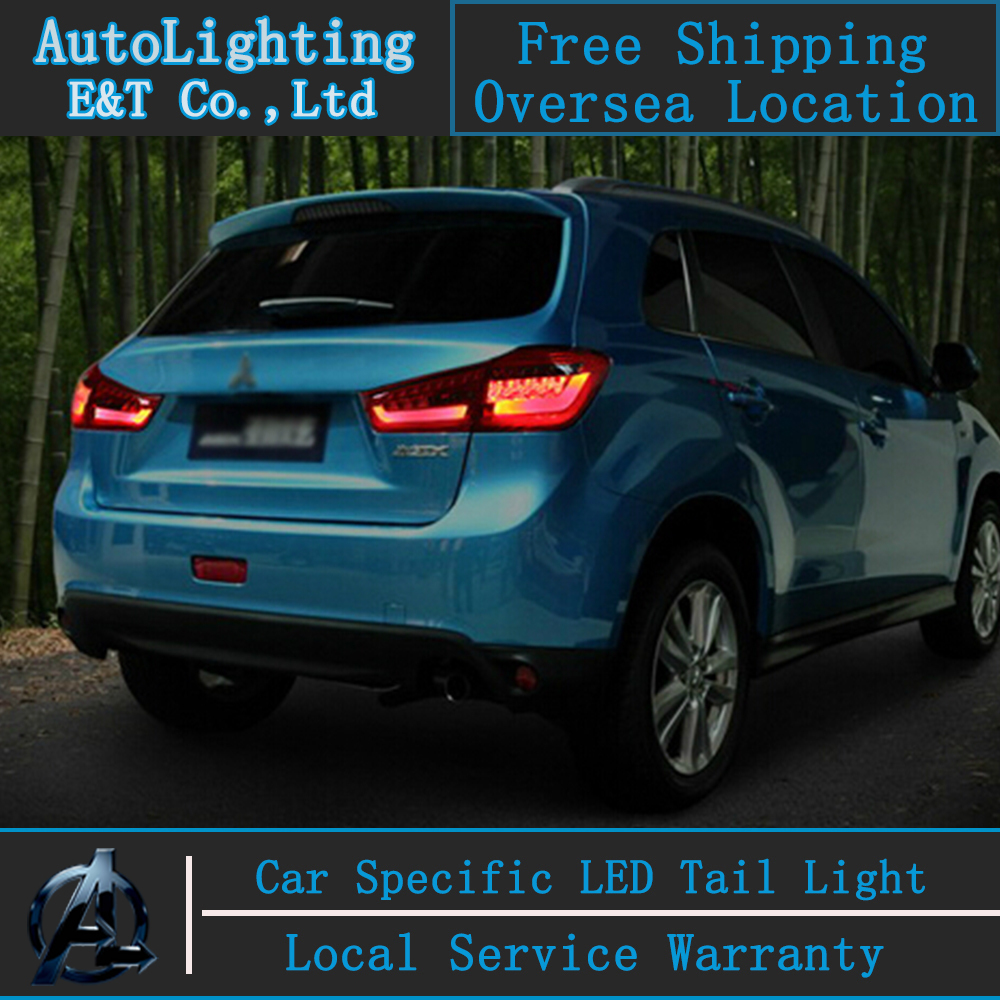 Shipping Option LED Tail Light for Mitsubishi ASX tail lights 2013-2014 rear trunk lamp cover drl+signal+brake+reverse