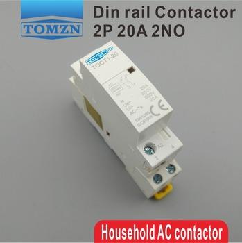 CT1 2P 20A 220V 230V 50 60HZ na szynę Din domowy stycznik modułowy 2NO tanie i dobre opinie TOMZN Other CT1-20-2P