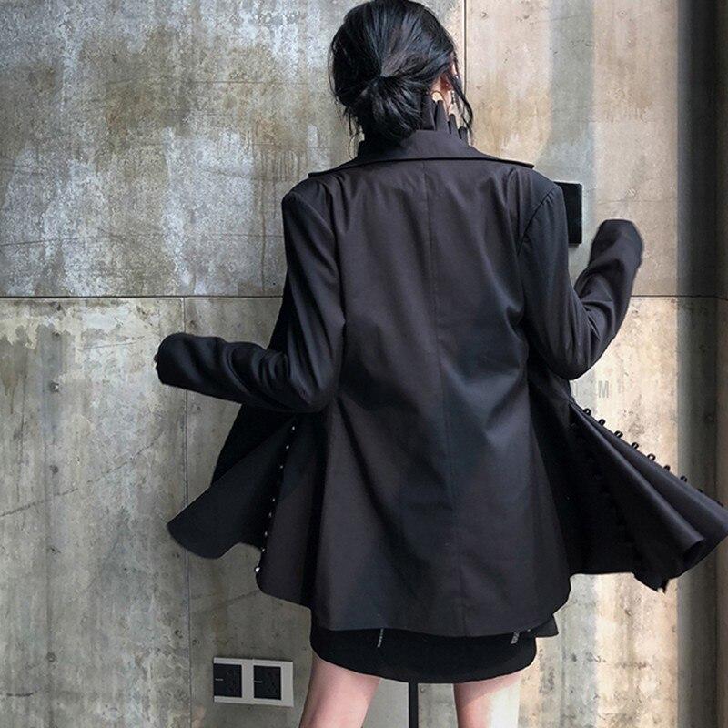 Costume Automne Black Femelle Cranté Blazer Yd Asymétrique Col ever Vêtements Veste Mince Longues Manches Mode Femmes Marée Hgwtt5xB