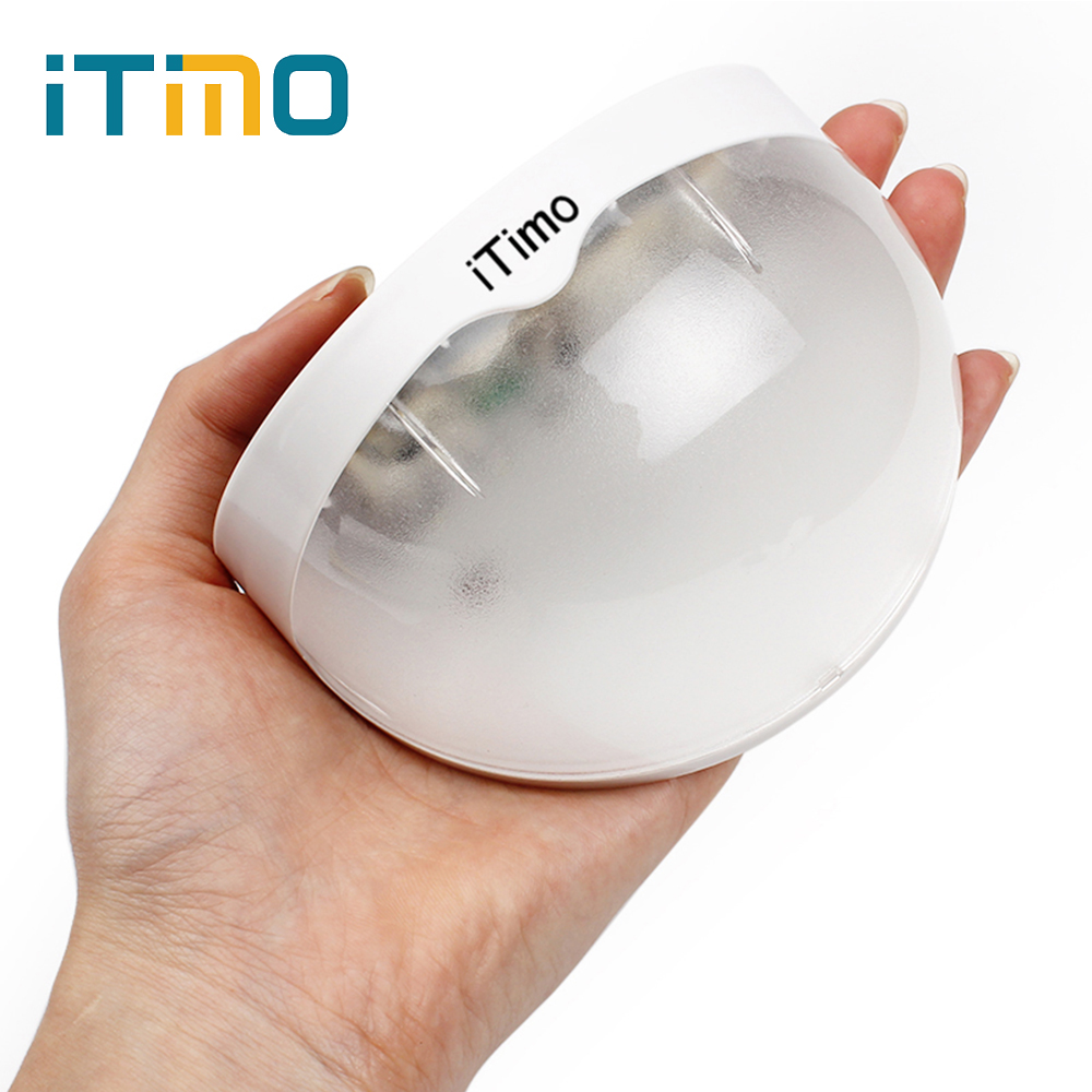 ITimo Solar Power Panel LED Light Sensor Waterproof Outdoor Fence Garden Pathway Wall Lamp Lighting White