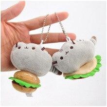 Бургер мороженое печенье стиль кошка плюшевая Подвеска Игрушка Кукла мини Милая раскладушка кукла плюшевый брелок 8 см WJ04