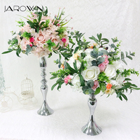 JAROWN Artificial Rose Peony Hydrangea Flower Ball Wedding Centerpiece Decoration Simulation Silk Flower home Party Decor Flores