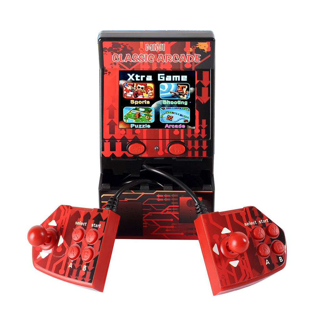 Upgraded Mini Double Hand held Gaming Console Games Device Double Joystick Retro Handheld Player with Built