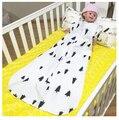 Весна Осень новорожденного 2 слоя молнии мешки Сна 100% хлопок 0-24 месяцев ребенок рукавов спальный мешок ребенка мешки