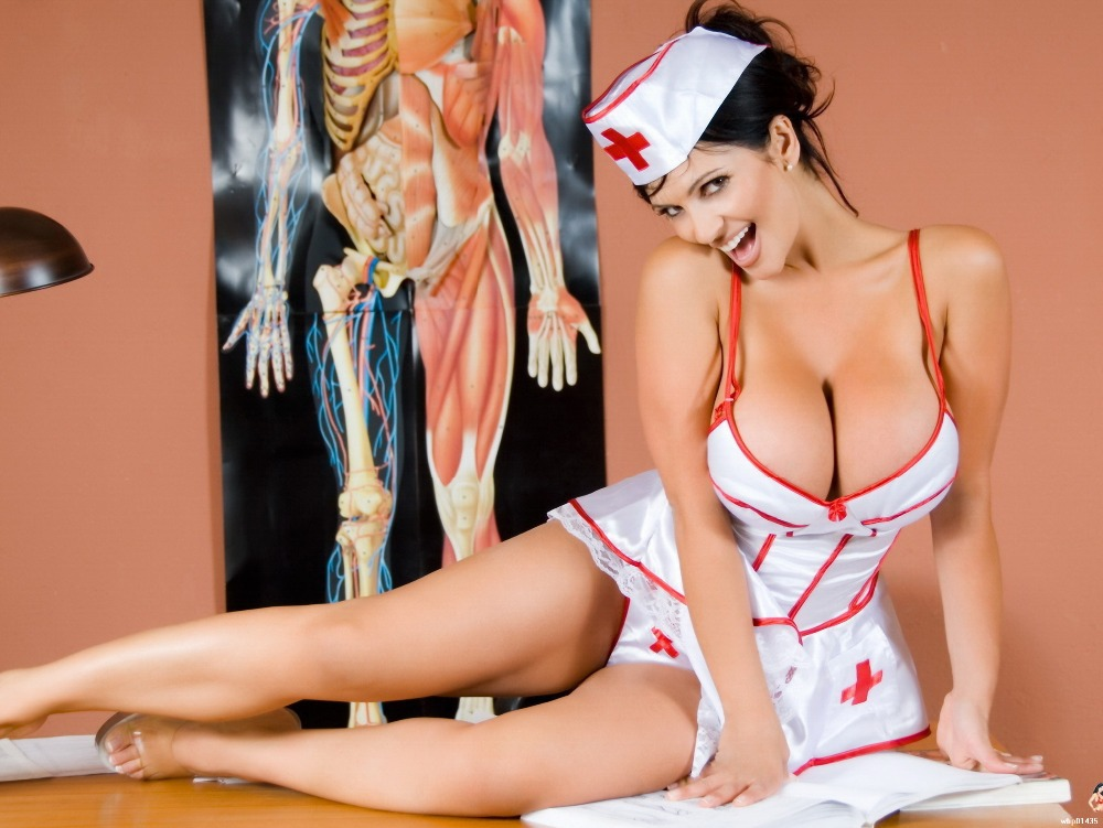 Denise Milani Sexy Nurse Big Boobs Art Huge Print Poster Txhome