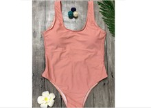 Women Sexy Beachwear Swimsuit Swimwear One Piece Grey Pink Green Solid Simple Costume