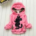 Free shipping Both Sides To Wear Children Hoodies Baby Girls Sweatshirts Long Sleeve Hoody Mini Mouse Cartoon Top Kids Clothes