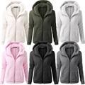 Winter Thicken Warm Jacket Women Basic Fluffy Hooded Coats Women'S Spring Autumn Cozy Coat Female Jackets Chaquetas AA J142