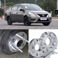 Teeze 4pcs 4X100 60.1CB 25mm Thick Hubcenteric Wheel Spacer Adapters For Nissan Sunny 2014 2018