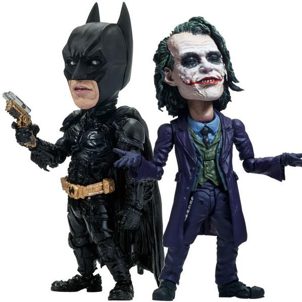 TOYS ROCKA! Batman The Dark Knight Joker PVC Action Figure Collectible Model Toy (eyes can move) 14cm batman the joker playing poker ver pvc action figure collectible model toy 19cm
