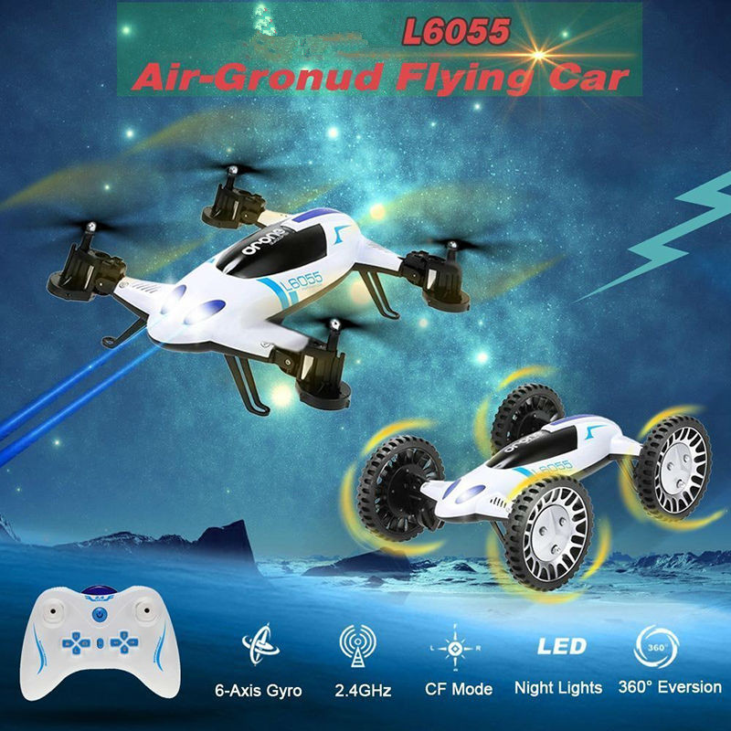 2016 new L6055 Helicopter 2 In 1 Flying Car WIFI Drones can with HD 2MP WIFI