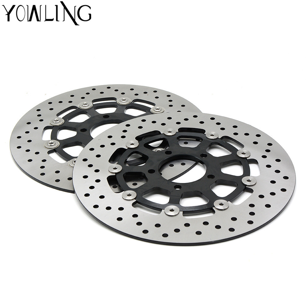 For SUZUKI TL1000 1997 1998 1999 2000 2001 2002 2003 2PCS 2PCS Motorcycle Accessories Aluminum Front Floating Brake Disc Rotor for suzuki gsx 600 f 1998 2003 1999 2000 2001 2002 gsf bandit s 600 2004 motorcycle front brake disc disk rotor gsx750f 750