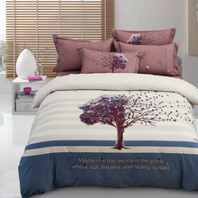 2017 New Tree Bedding Set cotton Bed Sheets Duvet Cover Flat Bedspread Sets Home Textile adults Bedroom Bed Set Juegos