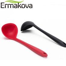 Ермакова силиконовая ложка большой размер суповая ложка термостойкий суповый половник суповый сервер с длинной ручкой антипригарная кухонная посуда