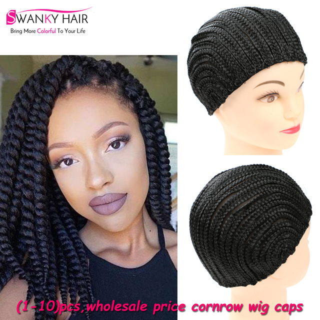 Hot Sell Easier To Sew In Braided Cornrow Wig Caps For Making Wigs
