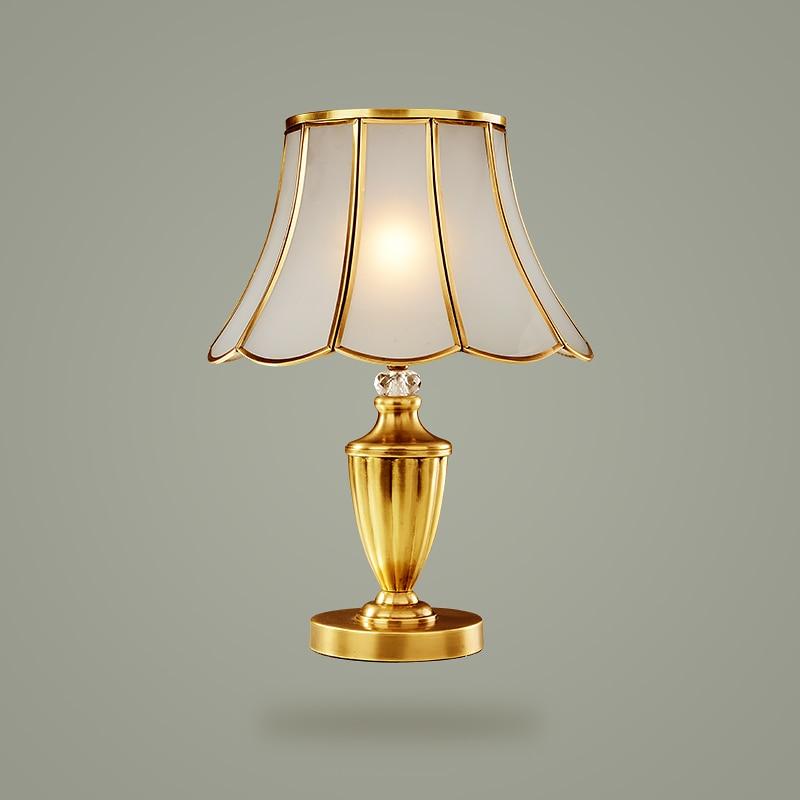 European style copper bedroom bedside table lamps luxury minimalist wedding room decoration full lamp desk lamps ZA921411