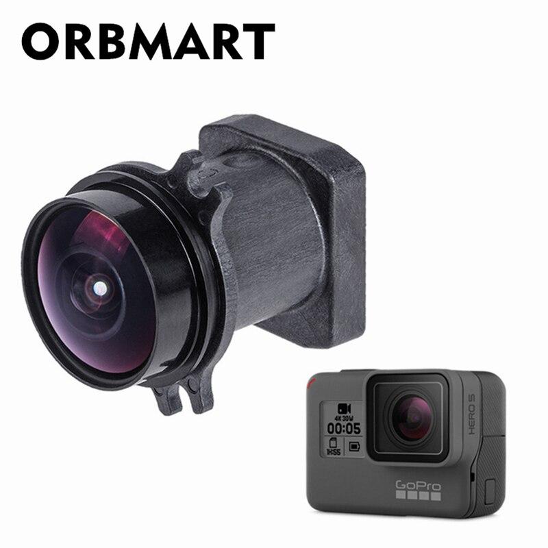 ORBMART Original objectif de caméra remplacer 1200 W Pixel 170 degrés objectifs grand Angle pour Gopro Hero 5/6/7 noir accessoire de caméra de Sport