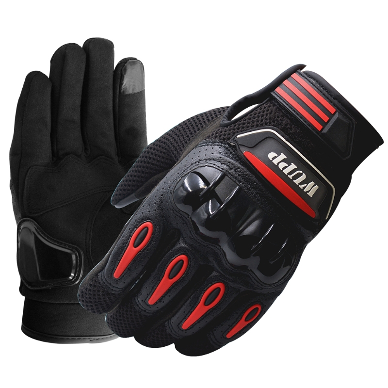 <font><b>High</b></font> <font><b>Quality</b></font> <font><b>1</b></font> <font><b>Pair</b></font> Men Women Racing <font><b>Motorcycle</b></font> ATV Riding Protect Armored Leather <font><b>Gloves</b></font> <font><b>Full</b></font> <font><b>Finger</b></font> L/XL/2XL with Touch Screen