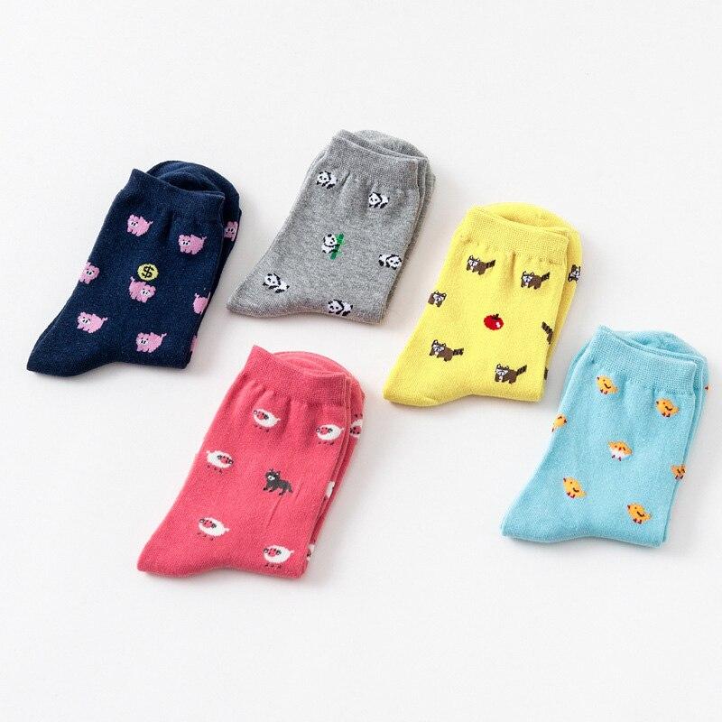 Women's Socks & Hosiery Summer Cute Women Animal Thin Short Sock Funny Kawaii Female Pig Cat Panda Sheep Wolf Raccoon Bear Cartoon Socks