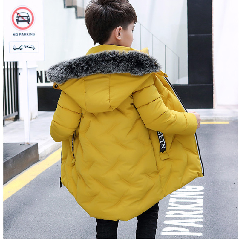 Big Boys Winter Jacket Coat with Fur Hooded Coat Kids Boy Down Jacket Warm Winter Parkas for Boys Snowsuit Kids Thick OutwearBig Boys Winter Jacket Coat with Fur Hooded Coat Kids Boy Down Jacket Warm Winter Parkas for Boys Snowsuit Kids Thick Outwear