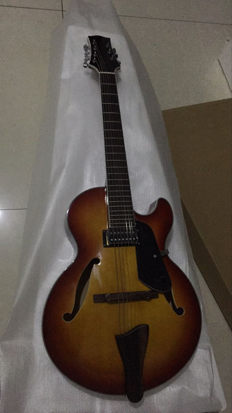 Wholesale Guitar New Arrival 7 String Jazz Electric Guitar Top Quality In Sunburst 161209 30