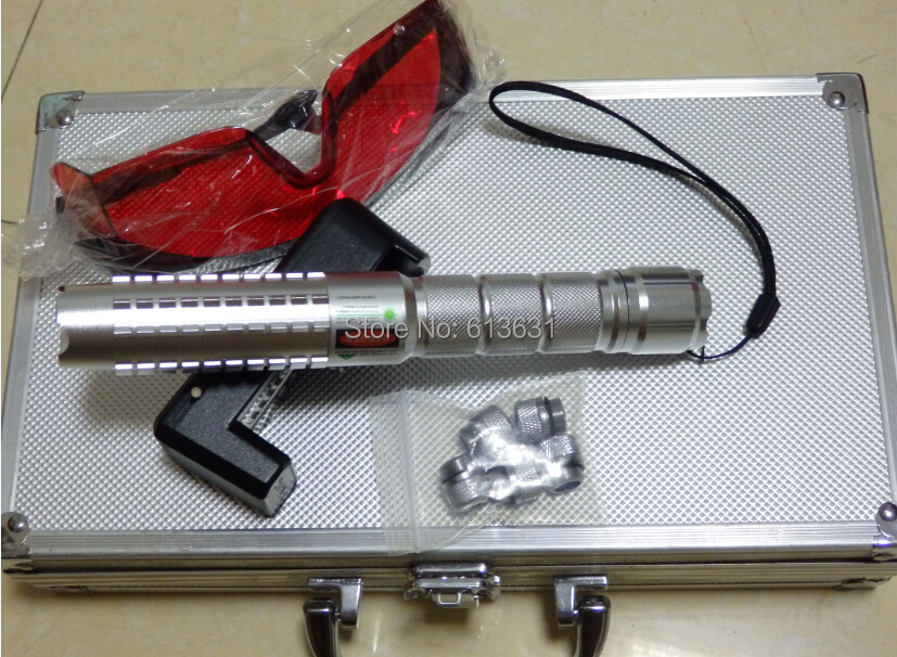 The Latest 3000mw 3W Green Laser Pointer Focusable Green Laser Torch Burn Matches 532nm/ Lighting A Match Hot