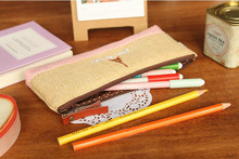 Lovely Cosmetic Bag Canvas Cotton Bag Ladies Cosmetic Bag Time Simple Bag of Large Capacity