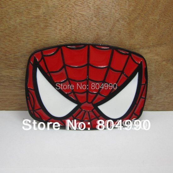 <font><b>Spiderman</b></font> <font><b>belt</b></font> <font><b>buckle</b></font> with black coating with <font><b>enamel</b></font> FP-03038 suitable for 4cm wideth <font><b>belt</b></font> with continous stock
