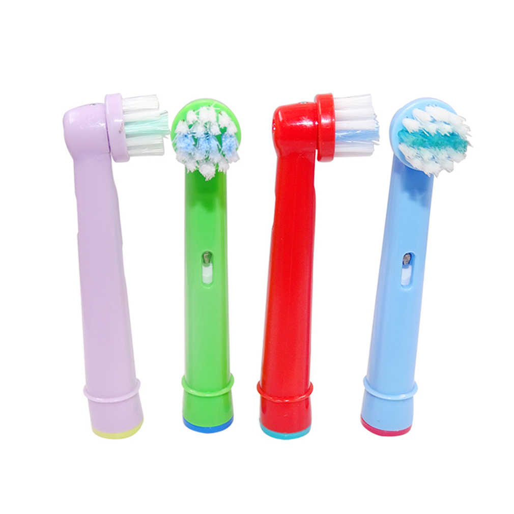 Beurha 4PCS/1Pack Tooth Brush Heads Replacement Children Kids Fit For Oral-B Pro-Health Stages Dory Electronic Toothbrush head