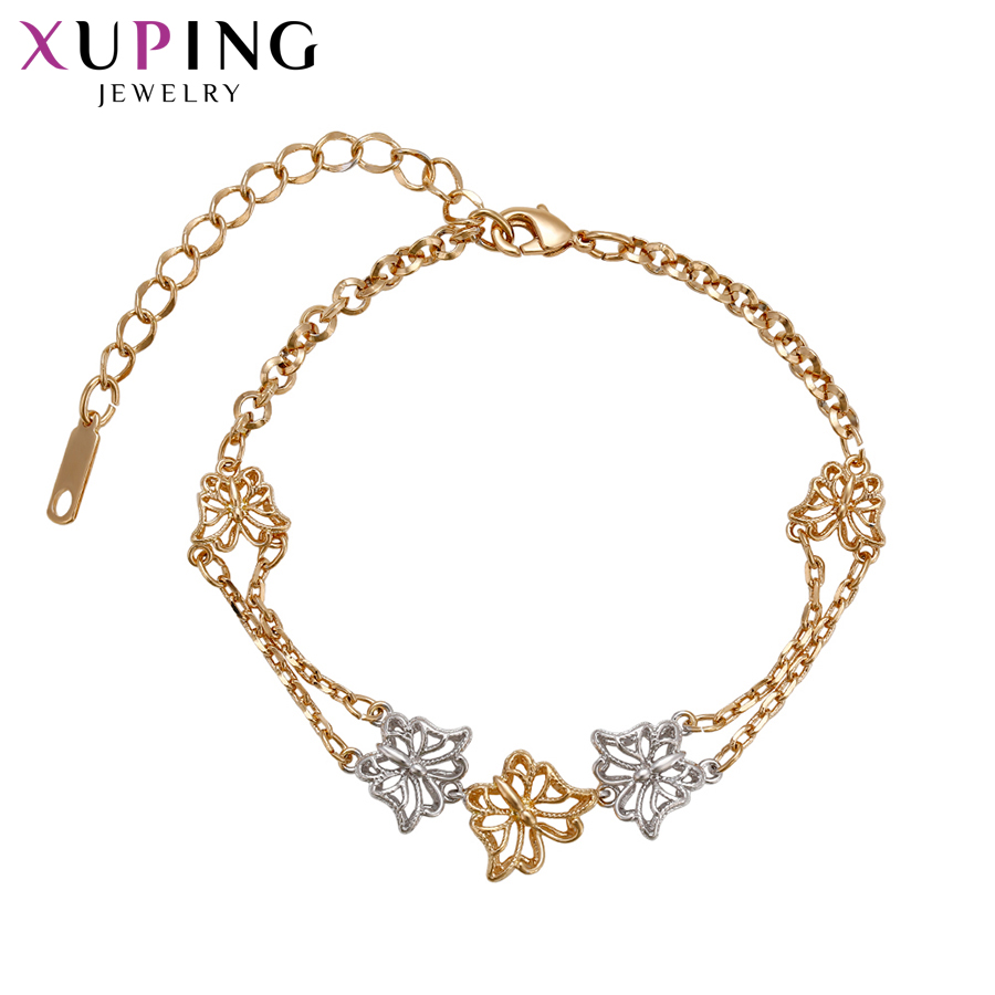 Chain & Link Bracelets Xuping Fashion Luxury Bracelets Butterfly Shaped Popular Design Bracelets For Women Girls Jewelry Christmas Gifts S71,3-72031 Dependable Performance Bracelets & Bangles