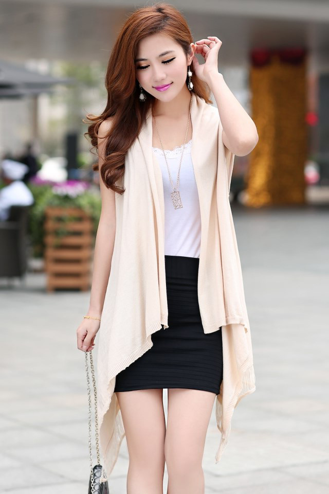 Summer Style 2015 New Pierced Thin Vest Knitted Cardigan Women ...