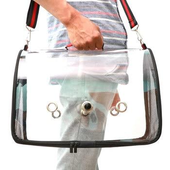 Lightweight Bird Carrier Cage Transparent Clear PVC Breathable Parrots Travel Bag FP8 1
