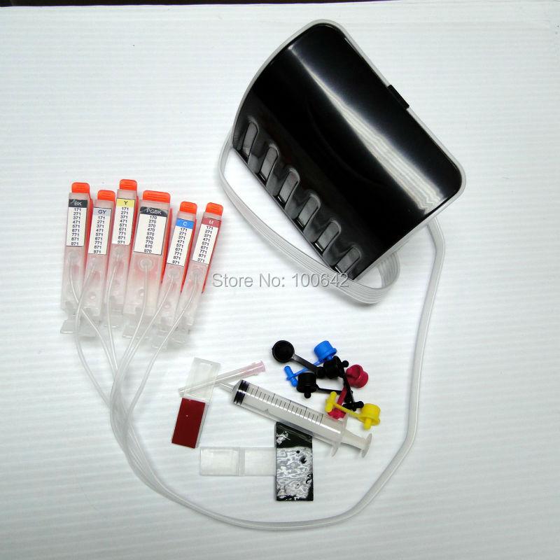 ФОТО 6 color CISS ink cartridge with chip PGI-770 CLI-771 PGI-770XL CLI-771XL for Canon PIXMA MG7770