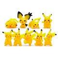 9 Unids/lote Pikachu Peluches Peluches Anime Figuras Juguetes Figura Muñecas de la Historieta Regalos para Niños