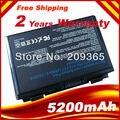 5200Mah Laptop Battery For Asus X50 X5D X5E X5C X5J X8B X8D K40IJ K40IN K50AB-X2A K50ij K50IN K70IC K70IJ K70IO Notebook Battery