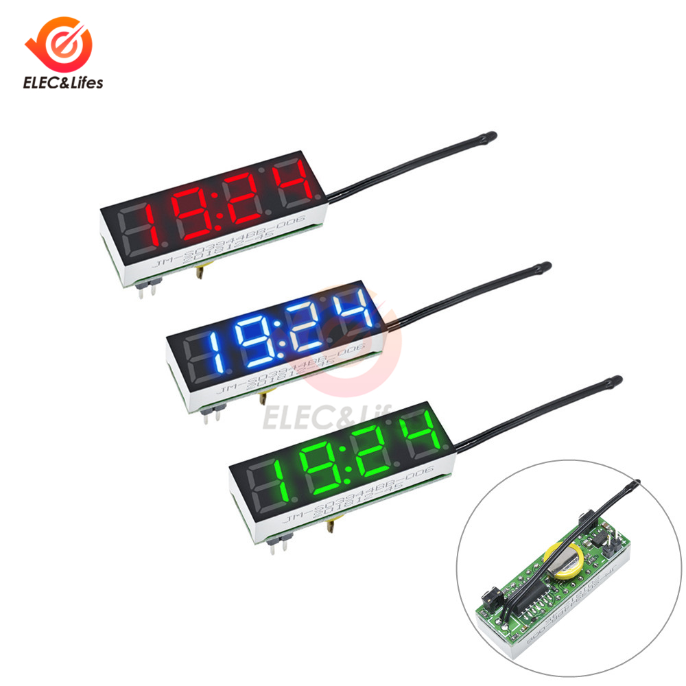 3 In 1 LED DS3231 Digital Voltmeter Clock Temperature Voltage Module DIY Time Thermometer Control Board DC 5V-30V Replace R8025 image