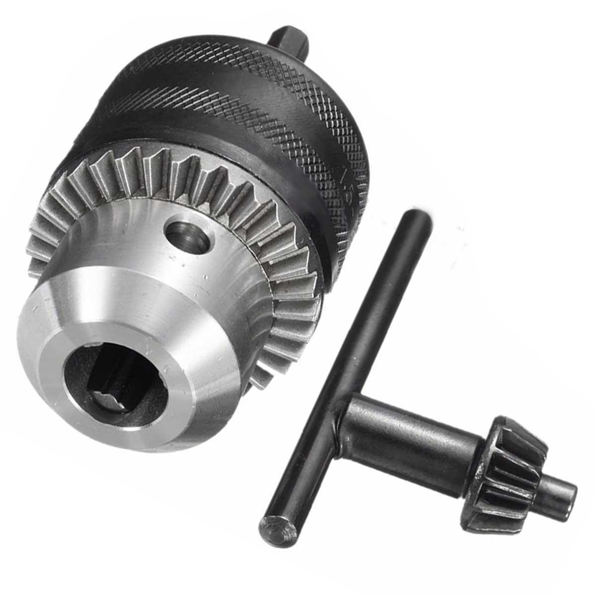 1pc Quick Change Drill Chuck Driver Converter 1.5-13mm + 1/2'' Hex Shank Key Adaptor For Power Tools  цены