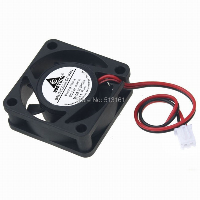 Купить с кэшбэком 5Pcs/Lot Gdstime 4015 4CM 40mm 24V 2Pin 40x40x15mm Mini Brushless DC Cooling Fans
