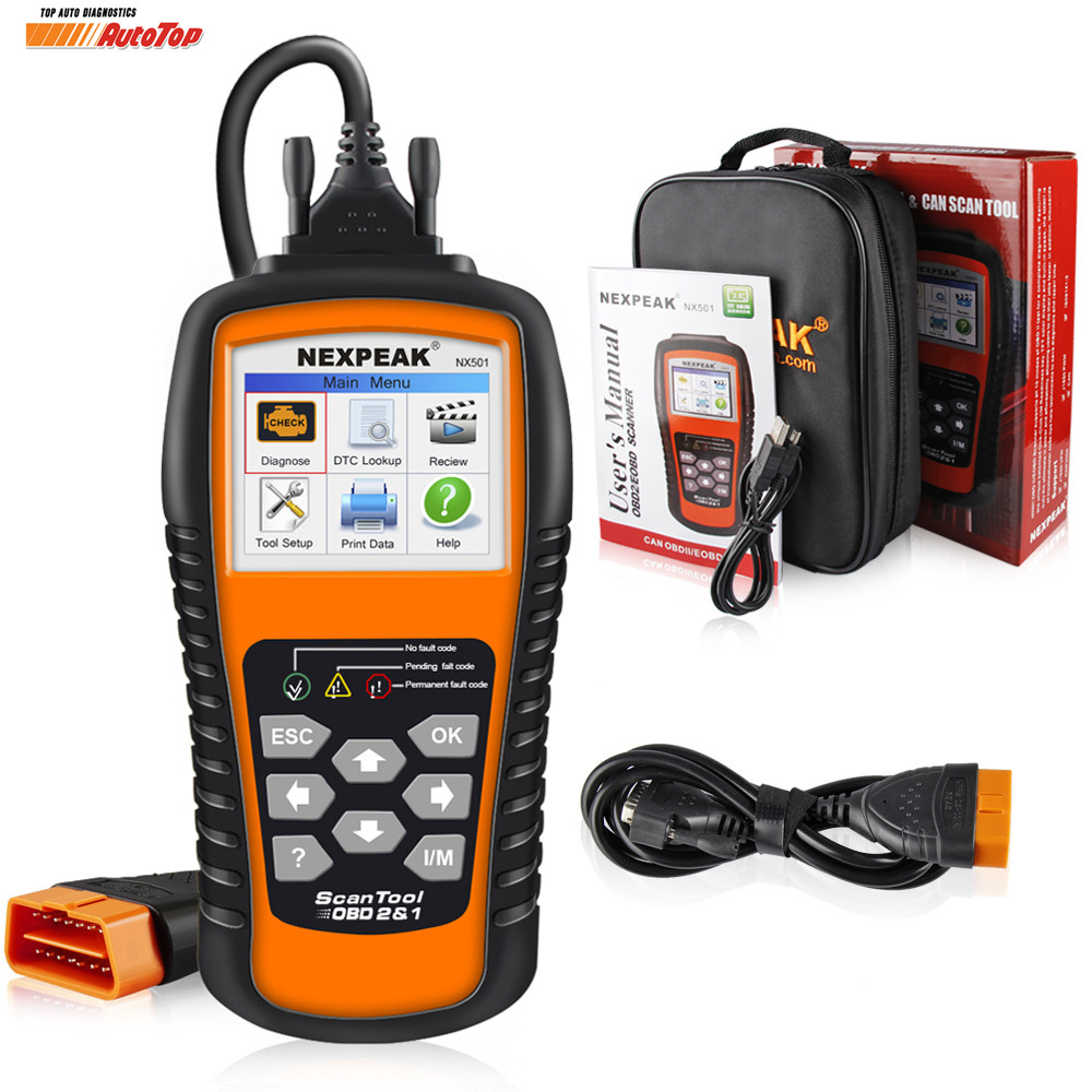 OBD2 Auto Diagnostic Scanner NEKPEAK NX501 Universal OBDII Code Reader Scanner Car Diagnostic Tool in Russian Car Repair Tools universal 38 pin to 16 pin obd obd2 obdii diagnostic adapter connector cable for mercedes benz cy096 cn