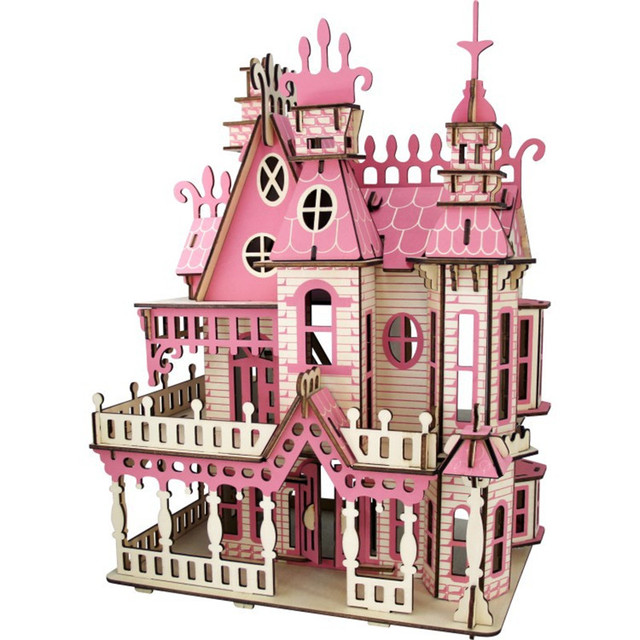 Educational 3D Puzzle Wood DIY Doll House
