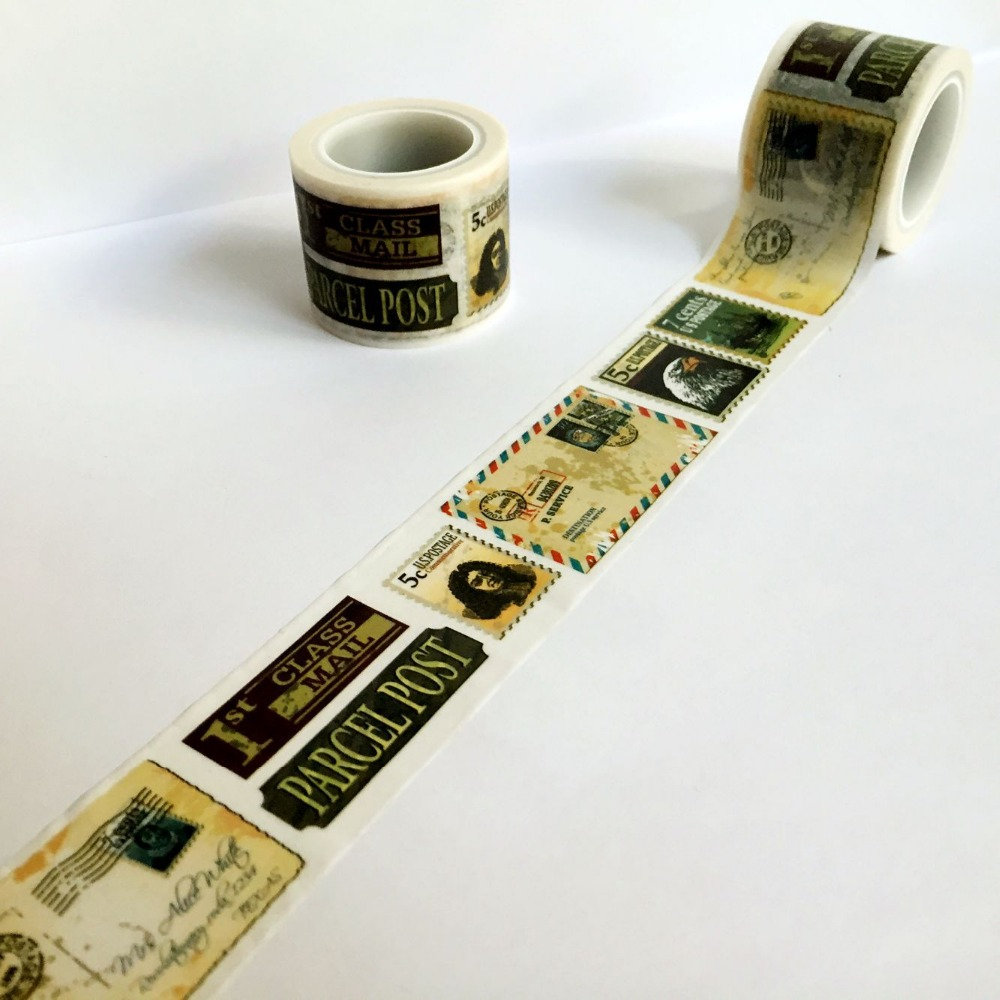 Beautiful  30mm*5m  high quality  washi paper  tape/Vintage varied stamps  masking  japan  washi tape
