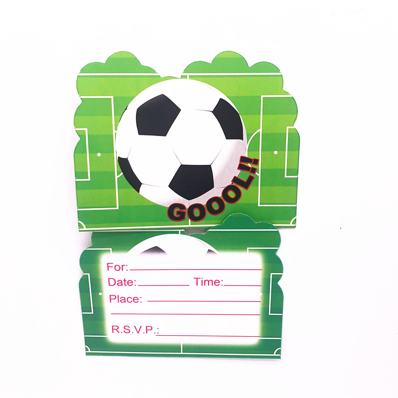 Image 3 - Hot football  Theme Cartoon Party Set Tableware Plate Napkins Banner Birthday Candy Box child Shower Party Decoration-in Disposable Party Tableware from Home & Garden