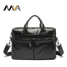MVA Genuine Leather Men Bags Shoulder casual male Leather Black men's Briefcases Laptop Bag Handbags Totes Crossbody Bags