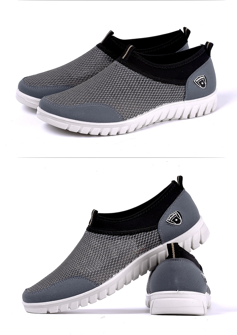 Summer Mesh Shoe Sneakers For Men Shoes Breathable Men's Casual Shoes Slip-On Male Shoes Loafers Casual Walking 38-48