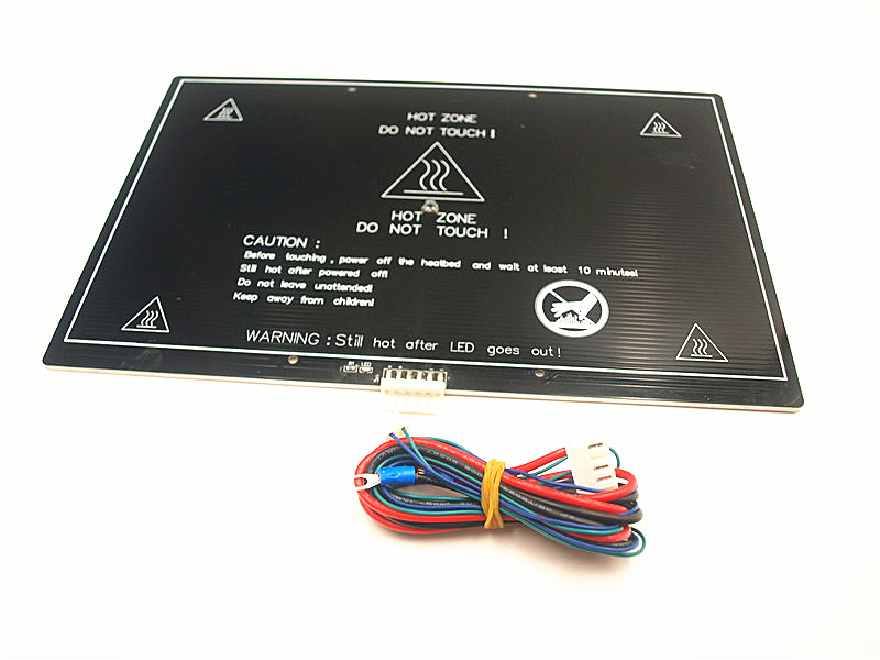 Funssor 12V /<font><b>24V</b></font> Reprap Prusa i3 MK3 300*200*3mm aluminum heated bed with connector and cable &NTC100 sensor/thermistor image