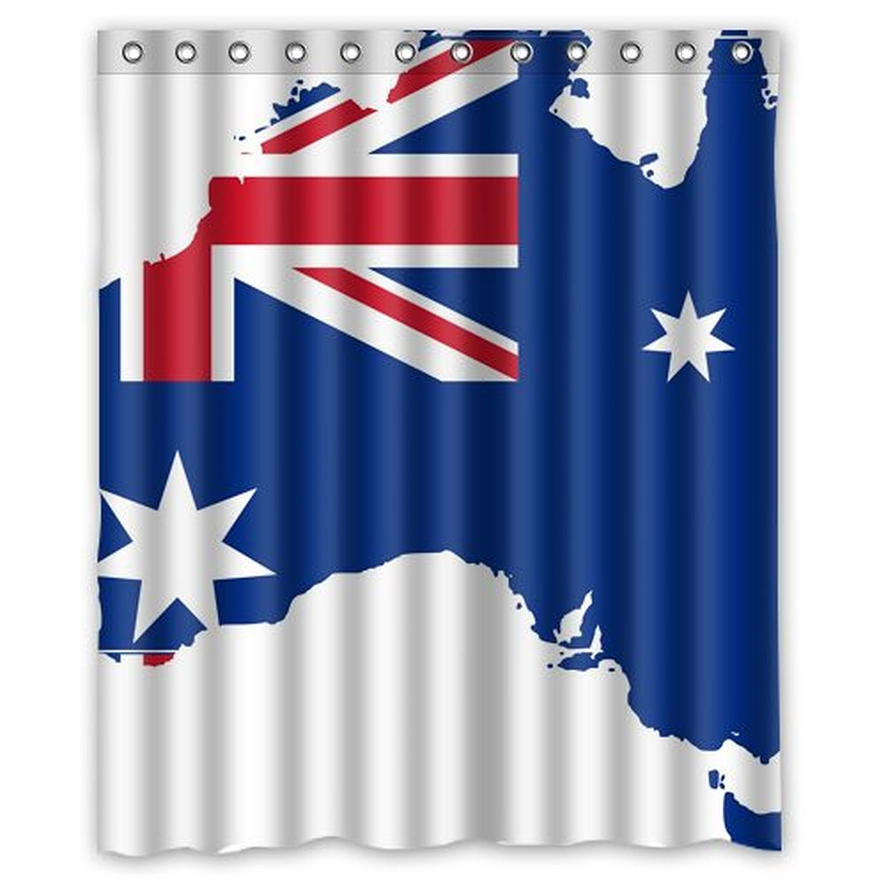 Treasure map shower curtain - Us Map Shower Curtain Australian Flag Country Shape Map Shower Curtain 60 X 72 Inch